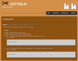 Screenshot von Cutter.js