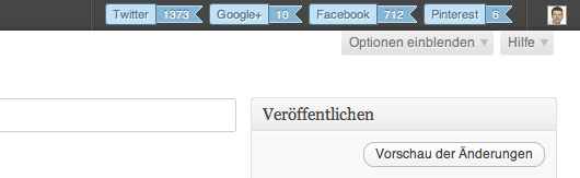 Screenshot der SMM Bar