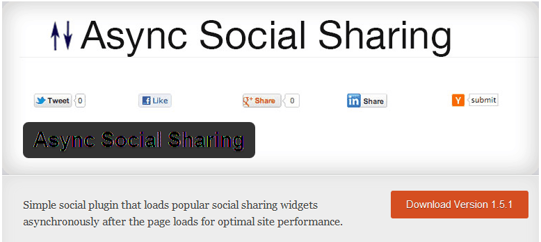 Screenshot con Async Social Sharing