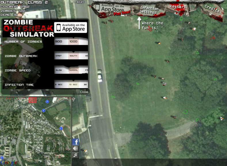 Screenshot des Zombie Outbreak Simulators
