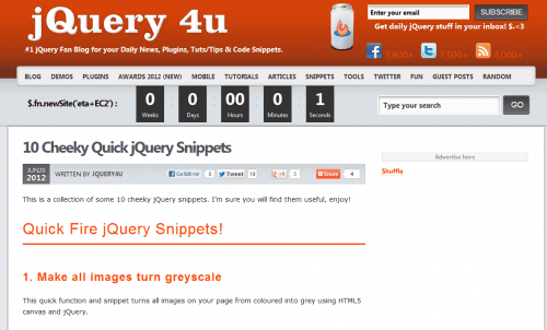10 nette jQuery Snippets