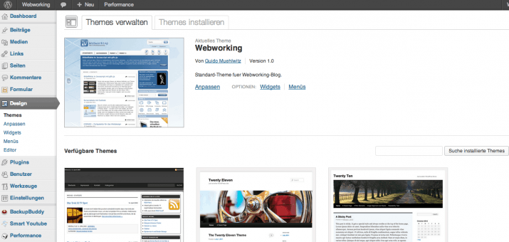 Der Theme Editor in WordPress