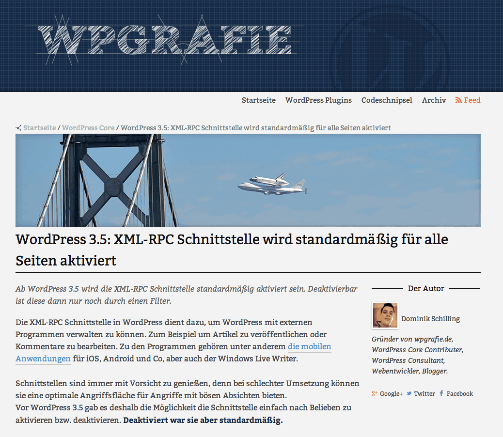 Screenshot von WPgrafie