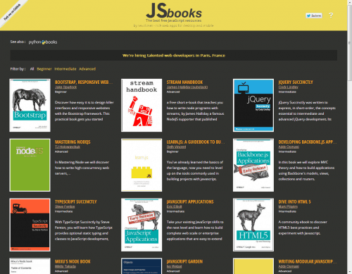 Screenshot von JSbooks