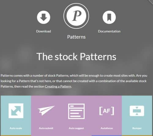 Screenshot von Patterns