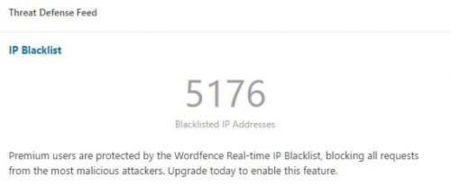 IP Blacklist aus dem Threat Defense Feed